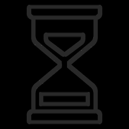 Icono de trazo de reloj de arena reloj de arena Transparent PNG