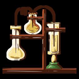 Ilustración de equipo de laboratorio