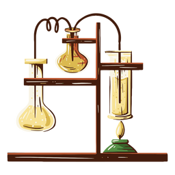 Laboratory equipment illustration