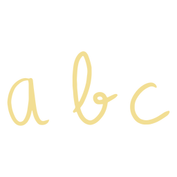 Letters abc doodle