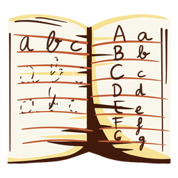 Letters notebook illustration