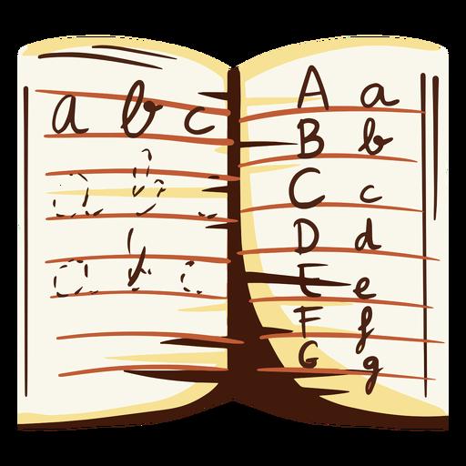 Letters notebook illustration