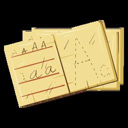 Ilustração de notas de letras