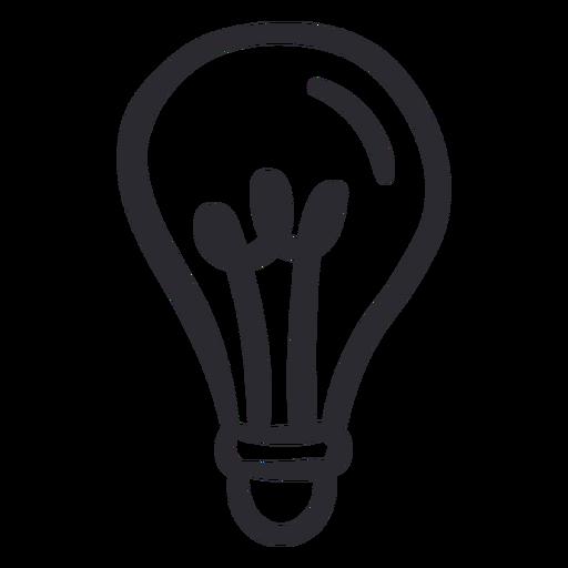 Lightbulb light stroke Transparent PNG