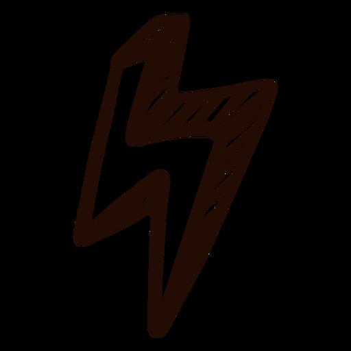 Lightning hand drawn