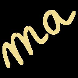Doodle de letras ma