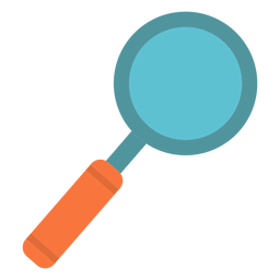 Magnifying glass flat icon color
