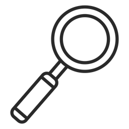 Diseño de icono de trazo de lupa