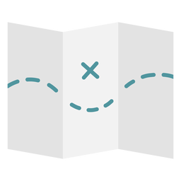 Mapa ícone plana