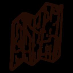 Mapa desenhado à mão