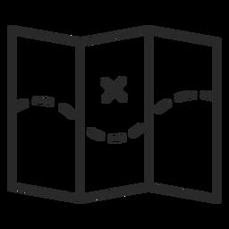 Icono de trazo de mapa