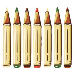 Markers school illustration