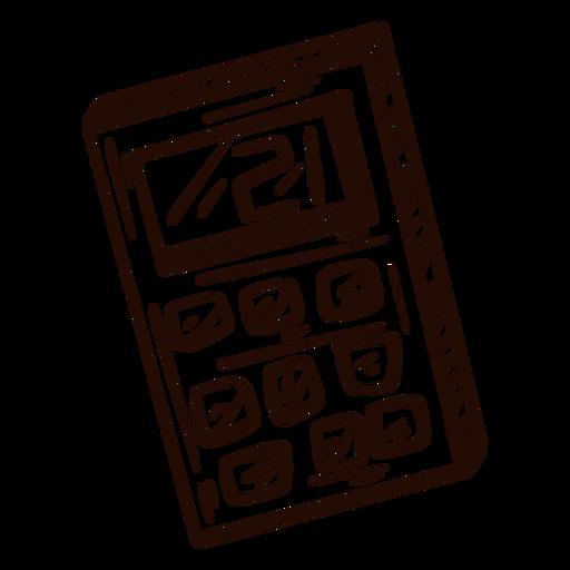 Math calculator hand drawn