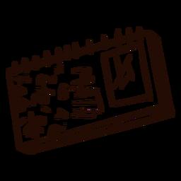 Mão de caderno de matemática desenhada