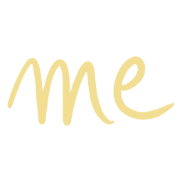 Me letters doodle