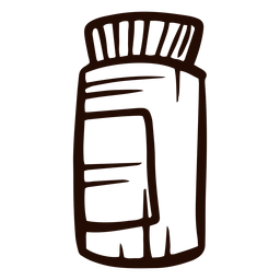 Dibujado a mano pastillas medicina