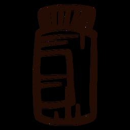 Pastillas de medicina dibujadas a mano