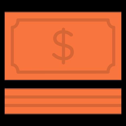 Icono plano de factura de dinero