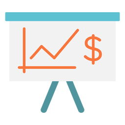 Money chart flat icon