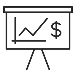 Money chart stroke icon