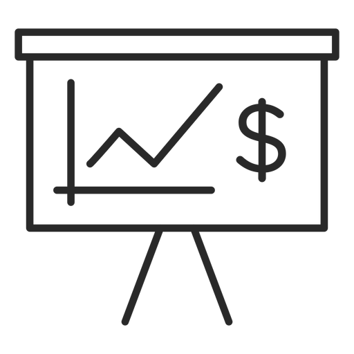 Money chart stroke icon Transparent PNG