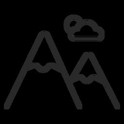 Ícone de pincelada de montanhas