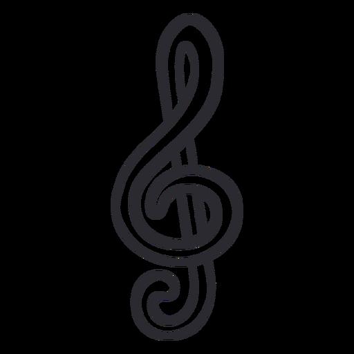 Musiknotenstrich