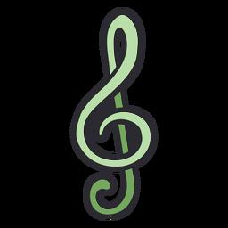 Cor do traço da nota musical