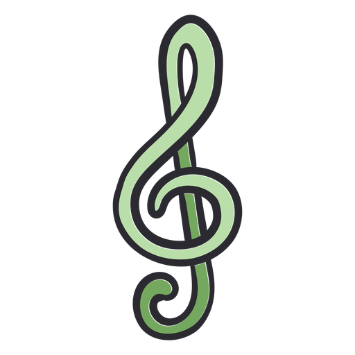Color de trazo de nota musical