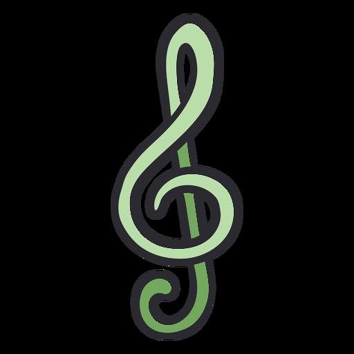 Music note stroke color Transparent PNG