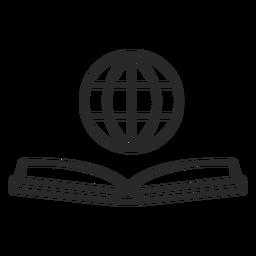 Icono plano de libro de red