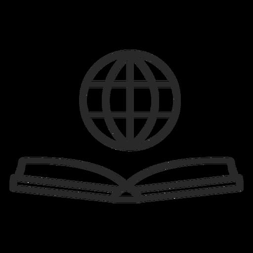 Icono plano de libro de red Transparent PNG