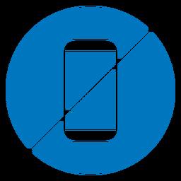 Nenhum ícone de celular azul