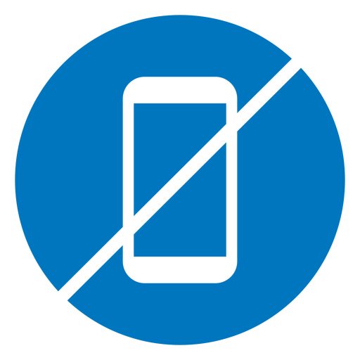 No cellphone blue icon Transparent PNG
