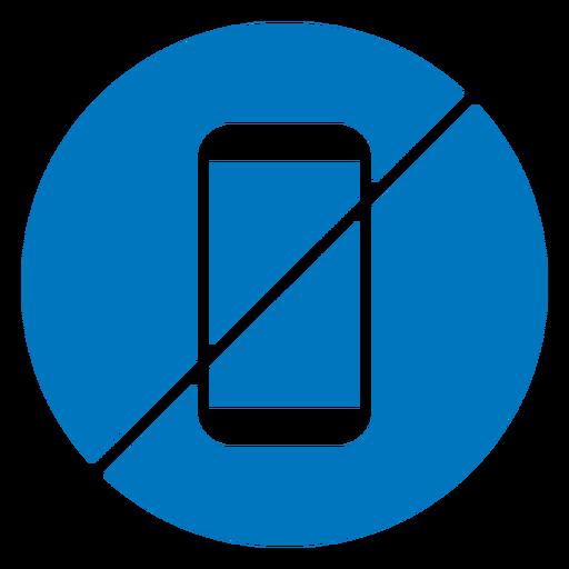 No cellphone blue icon