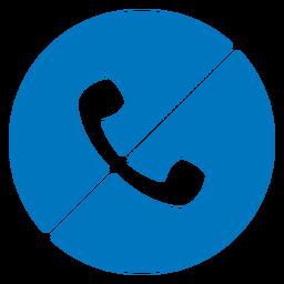 No hay icono de teléfono azul