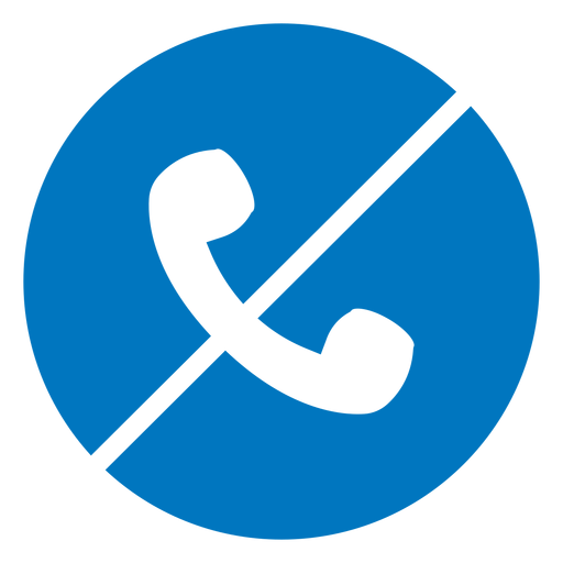 No phone blue icon Transparent PNG