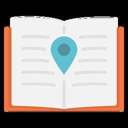 Icono plano de ubicación de cuaderno