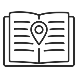 Notebook location stroke icon