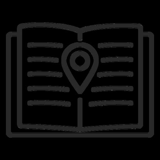 Icono de trazo de ubicación del cuaderno Transparent PNG