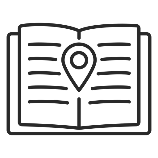 Notebook location stroke icon