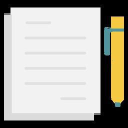 Ícone plana de notas caneta