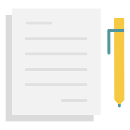 Notes pen flat icon