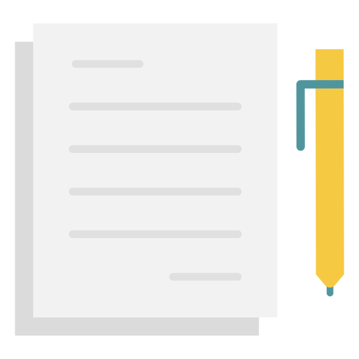 Notes pen flat icon Transparent PNG