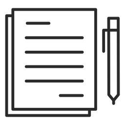 Notes pen stroke icon
