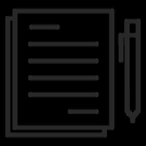 Icono de trazo de pluma de notas - Descargar PNG/SVG transparente