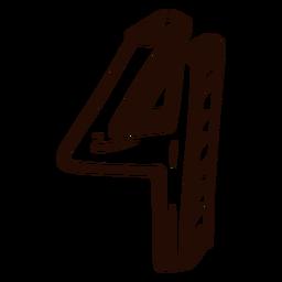Doodle de número 4