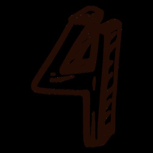 Doodle número 4 Transparent PNG