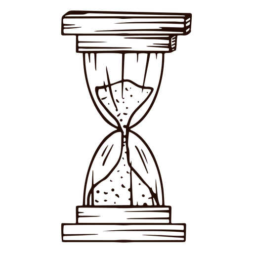 Dibujado a mano antiguo reloj de arena