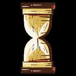 Ilustración de reloj de arena antiguo